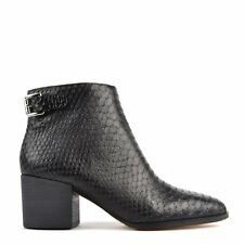 MICHAEL by Michael Kors Saylor Black Python Embossed Ankle Boot