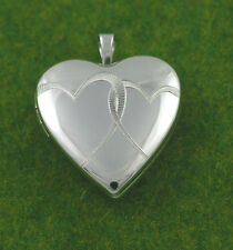 Sassi SL1010 Medium 925 Sterling Silver Entwined Heart Design Heart Shape Locket