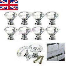 4/8/16pcs 40mm Clear Crystal Glass Door Knob Drawer Cabinet Kitchen Handles Hot