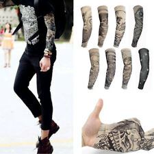 Multi Functional Temporary Fake Tattoo Sleeves Goth Punk Party Arm Stockings HOT