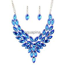 MagiDeal 2pcs Fashion Earring Necklace Exquisite Jewelry Set Women Wedding