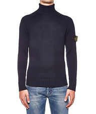 STONE ISLAND 6715535C2V0020 men Knitwear Blue NEW  OUTLET