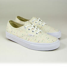 Vans Authentic Trainers, Speckle Jersey, Cream/True White, Multicolour Speckled