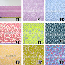 Bright Color Flower Crochet Wedding Bridal Dress Sewing Lace Fabric 1 Yard