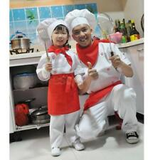 MagiDeal Adult Kids Cooking Chef Cosplay Costume Top+Pant+Hat+Apron+scarf Set