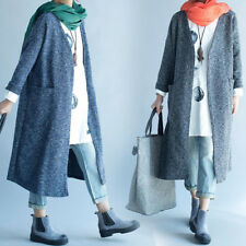 Trendy Women Kimono Trench Cardigan V Neck Solid Long Loose Jacket Coat Oversize
