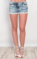 IKRUSH Womens Eder Denim Hotpant Shorts