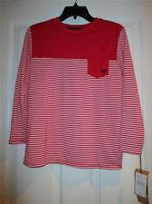 Red/White Striped L/S Top NEW BY Company 81 Size S (8) L (14/16)