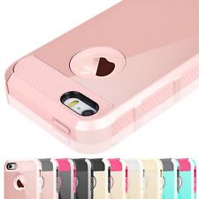 Hybrid Armor Rugged Rubber Silicone Hard Cover Case for Apple iPhone 5 5s SE