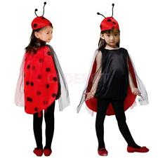 Ladybug Costume Girls Ladybird Halloween Party Fancy Dress Animal Insect Outfit