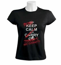 Run Zombies Are Coming Women T-Shirt Keep Calm and carry on funny parody