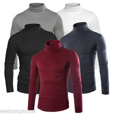 Black Wool Turtleneck Men's Sweater Solid Knit Cashmere Pullovers Sweaters New