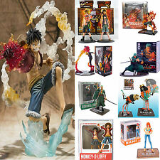 Carton JP Anime One Piece  Action Figure Figurines Luffy /Ace /Zoro /Sanji Toy