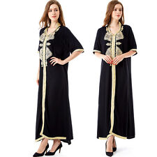 Muslim Women Maxi long Dress moroccan Kaftan Caftan Jilbab Islamic abaya