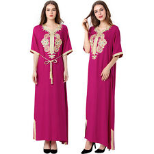 Muslim abaya caftan dubai dress for women Islamic clothing rayon gown jalabiyas