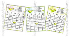 Baby Shower Bingo Cards - set of 10 Pea in a pod personalized bingo cards