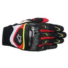 Alpinestars SMX-2 Carbon Air v2 Red White Fluo Motorcycle Gloves