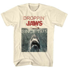 Jaws Licensed T-Shirt Movie Mens New DROPPIN Since 1975 in Sizes S - 2XL