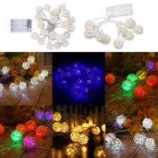 Rattan Ball LED String Fairy Light Holiday Decoration Lamp for Wedding Christmas