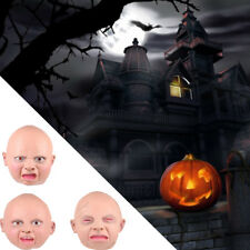 Creepy Baby Angry Smile Cry Full Head Face Mask Halloween Scary Costume Cosplay