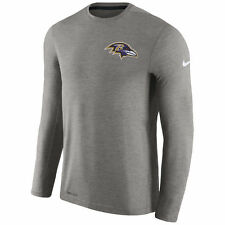 Nike Dri-FIT 2017 NFL Baltimore Ravens Sideline Coaches Long Sleeve T-Shirt
