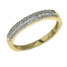 Diamond Stackable Ring 1/4 ct tw Round/Baguette 10K Yellow Gold