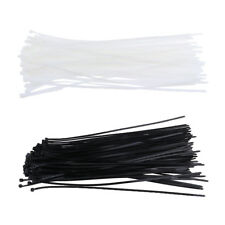 "100pcs 16"" 4.8x400mm Locking Nylon Plastic Cable Wire Zip Ties Cord Wraps"