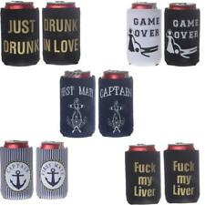 2pcs/Set Soda Beer Bottle Tin Can Cooler Sleeve Holder Mixed Pattern