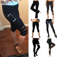 Women High Waist YOGA Pants Fitness Leggings Gym Running Sports Stretch Trousers