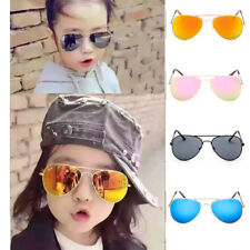 Retro Children Kids Boys Girls Students Aviator Sunglasses Eyewear Shades UV400