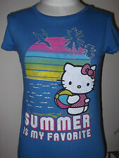 New KITTY Hawaii Summer Favorite Girl's Kid's T-shirt TEE L Old Navy  Blue