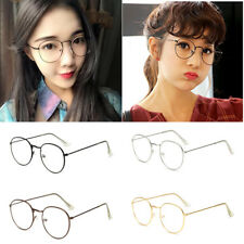 Oval Round Slim Metal Frame Clear lens Fashion Glasses Mens Womens Ladies Nerd p