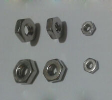 """Stainless Steel Hexagonal Nuts Hex Nut 2# 4# 6# 8# 10# 1/4"""" 5/16"""" to 1inch-8"""