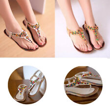 1 Pair Fashion Womens Sandals Flat Heel New Bohemian Style Summer Women Shoes
