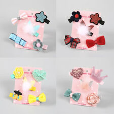 5Pcs/lot Kids Infant Hairpin Baby Girl Hair Clip Bow Flower Mini Barrettes Gifts