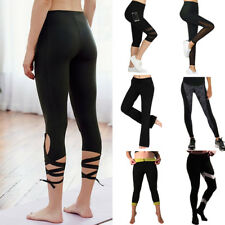 US Women YOGA Pants Fitness Leggings Gym Running Sports Athletic Waist Trousers