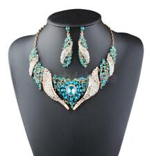 Gorgeous Necklace Jewelry Set with Sunflower Decor Rotate Alloy Earring