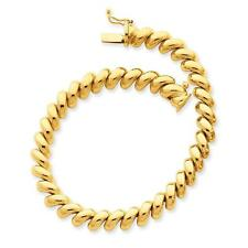 14k Yellow Gold Polished San Marco Necklace or Bracelet SM10