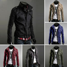 Mens Fashion Casual Jacket Coat Slim Fit Clothes Winter Warm Overcoat Outerwear