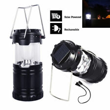 6 LED USB Solar Light Rechargeable Lantern Outdoor Camping Hiking Lamp Portable