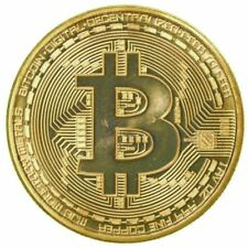 Bitcoin Coin Gold Sliver Plated Collectible BTC Coins Art Collection Gift New XQ