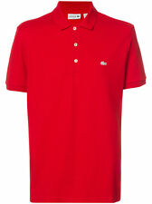 Lacoste White Croc' Regular Fit Piqué Polo  Color Grenadine Size 7/XXL or 9/4XL