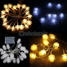 Battery Operated Pine Cone LED Rope Fairy String Light Holiday Decorative Lamp