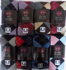 Woman 70% Cotton Warm Argyle&Square Sweater Footed Tights Buy 2 Get  1 Free