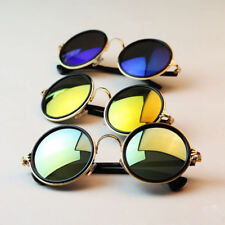 Womens Men Hippie Retro HD Sunglasses Round Vintage Shades Eyewear Glasses UV400