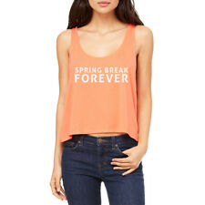 Spring Break Forever Beach Party Women's Coral Flowy Boxy Tank NEW Sizes S-2XL