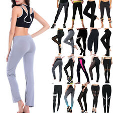 US Women Yoga Leggings Fitness Running Gym Pants High Waist Athletic Trousers