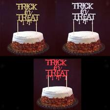 20pcs Drip Blood Trick or Treat Letters Cake Topper Picks Halloween Party Decor