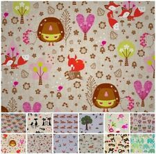 LINEN LOOK COTTON ANIMALS CHILDS NOVELTY PRINT CUSHION CURTAIN UPHOLSTERY FABRIC