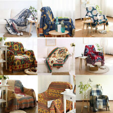 Jacquard Textiles, Soft Sofa Throw Cover Cotton Armchair Bed Blanket